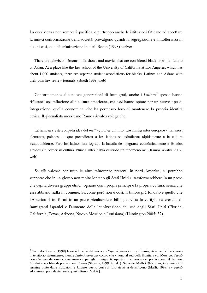 Anteprima della tesi: Commutazione e commistione di codice nel racconto Blow-up di Giannina Braschi, Pagina 7