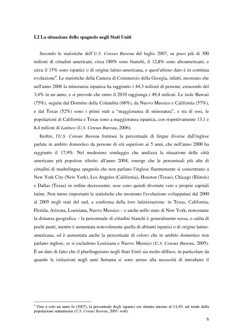Anteprima della tesi: Commutazione e commistione di codice nel racconto Blow-up di Giannina Braschi, Pagina 8