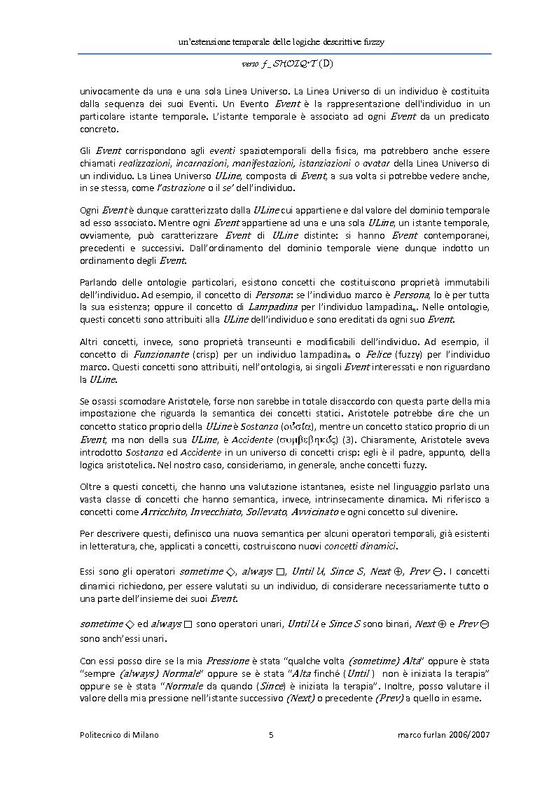 Anteprima della tesi: Un'estensione temporale delle logiche descrittive fuzzy, Pagina 3