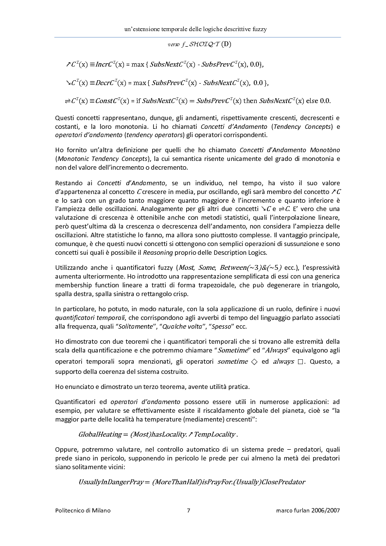 Anteprima della tesi: Un'estensione temporale delle logiche descrittive fuzzy, Pagina 5