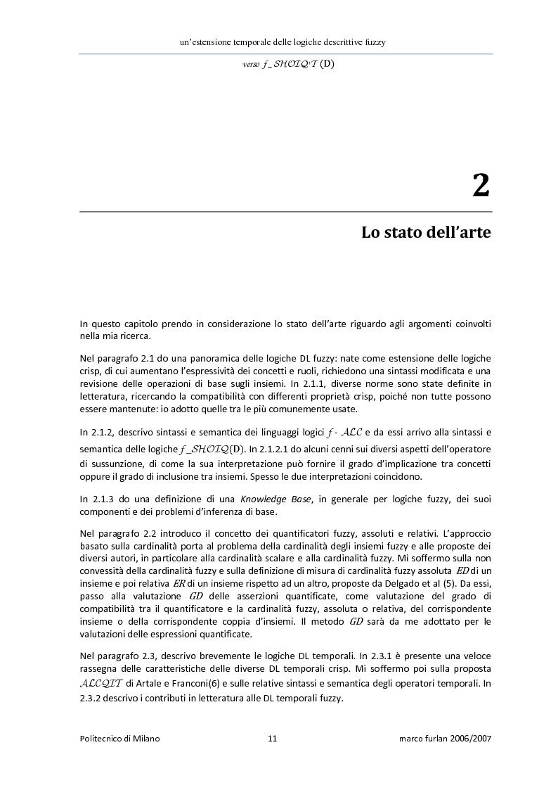 Anteprima della tesi: Un'estensione temporale delle logiche descrittive fuzzy, Pagina 9