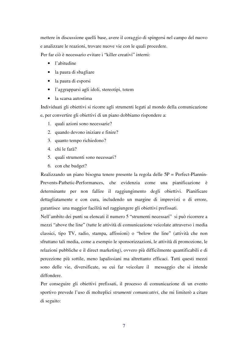 Anteprima della tesi: Comunicare i valori con gli eventi sportivi - Trasmettere i valori individuali e sociali, funzione fondamentale dello sport, Pagina 4