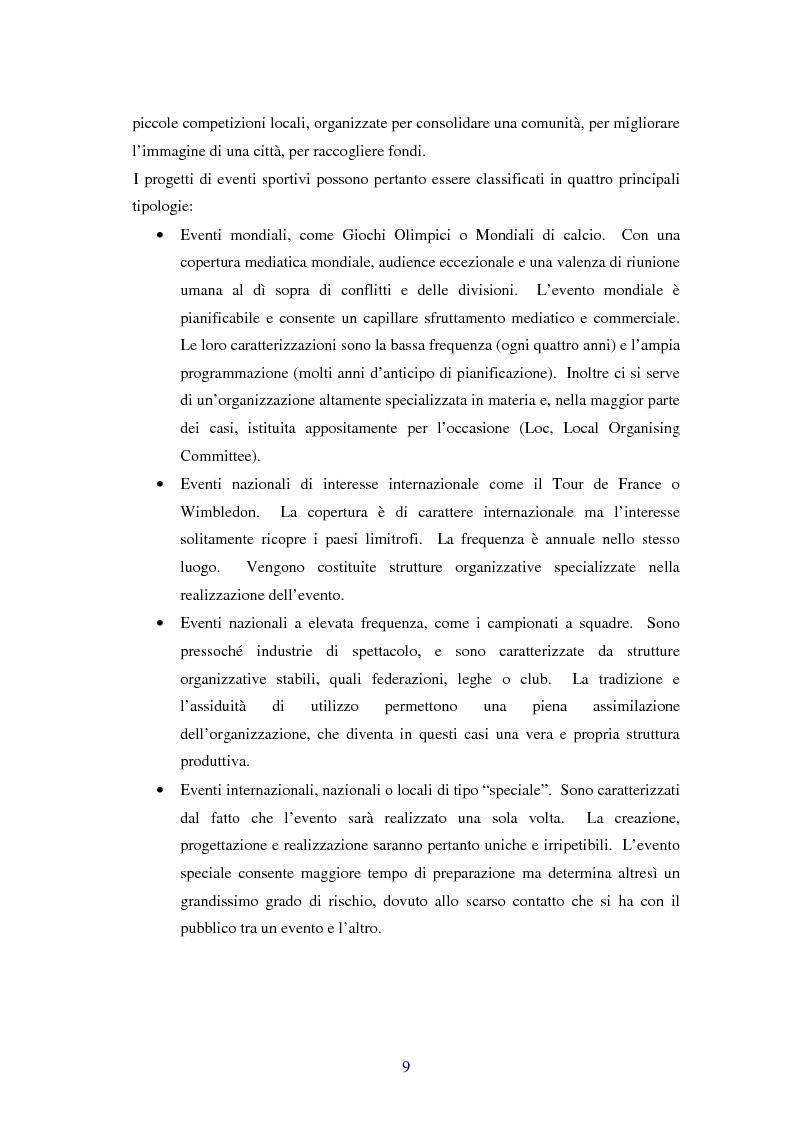 Anteprima della tesi: Comunicare i valori con gli eventi sportivi - Trasmettere i valori individuali e sociali, funzione fondamentale dello sport, Pagina 6