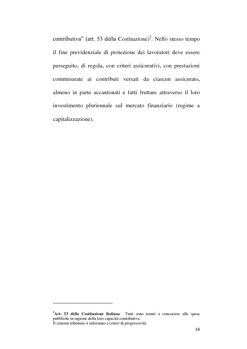 Anteprima della tesi: Fondi Pensione e riforma del Tfr: sistemi finanziari, tipologie e funzionamento dei fondi a contribuzione definita secondo il d.lgs. 252/2005, Pagina 11