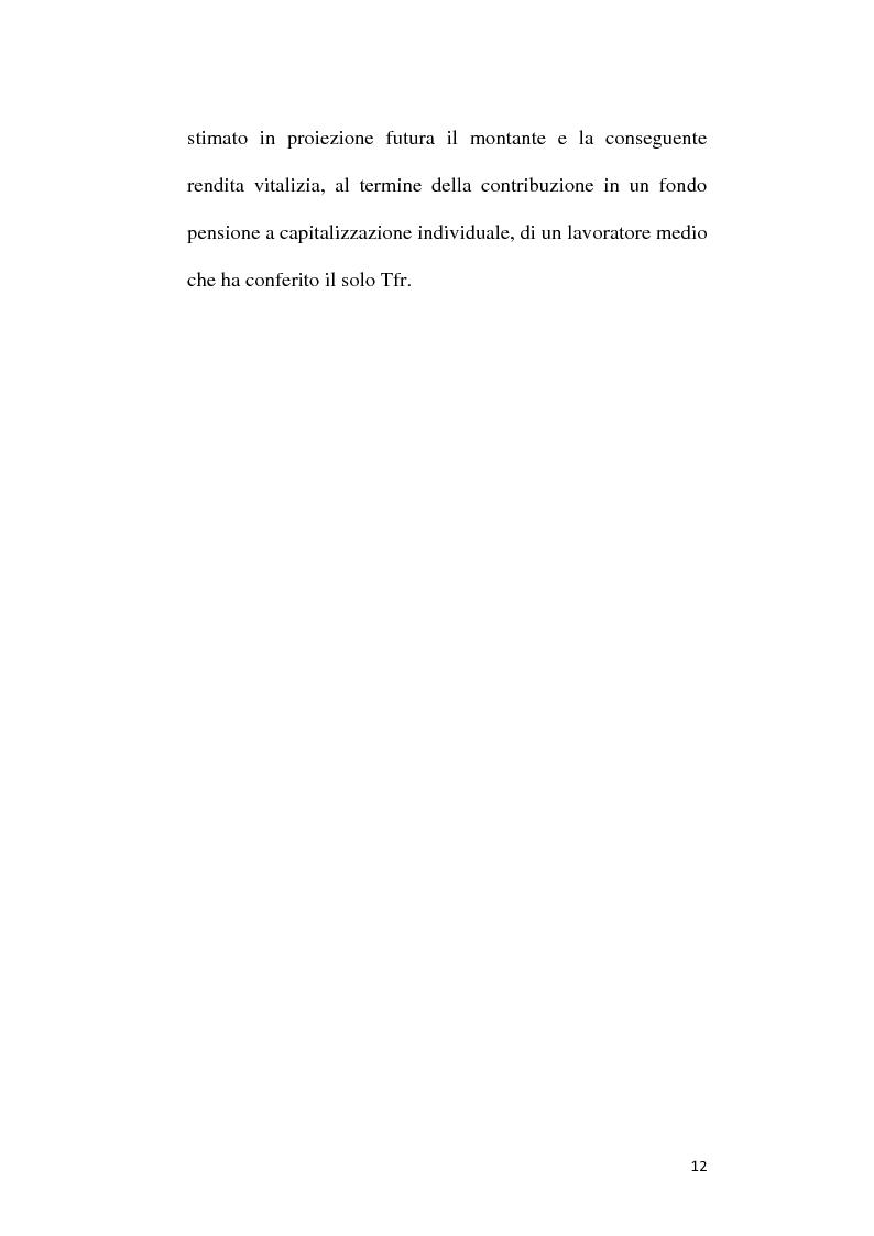 Anteprima della tesi: Fondi Pensione e riforma del Tfr: sistemi finanziari, tipologie e funzionamento dei fondi a contribuzione definita secondo il d.lgs. 252/2005, Pagina 7