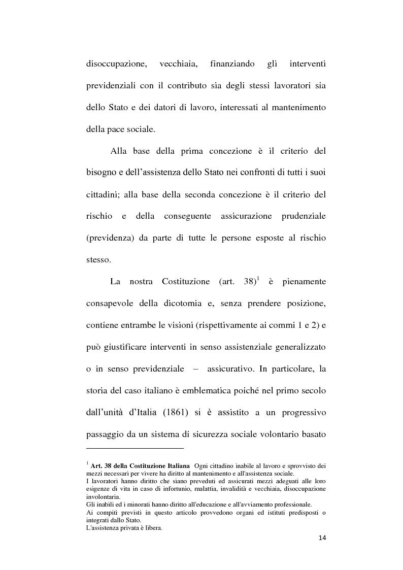 Anteprima della tesi: Fondi Pensione e riforma del Tfr: sistemi finanziari, tipologie e funzionamento dei fondi a contribuzione definita secondo il d.lgs. 252/2005, Pagina 9
