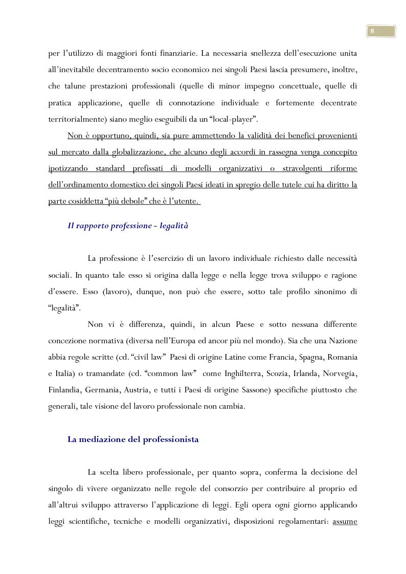 Anteprima della tesi: Esame delle professioni liberali nel contesto nazionale ed europeo, Pagina 7
