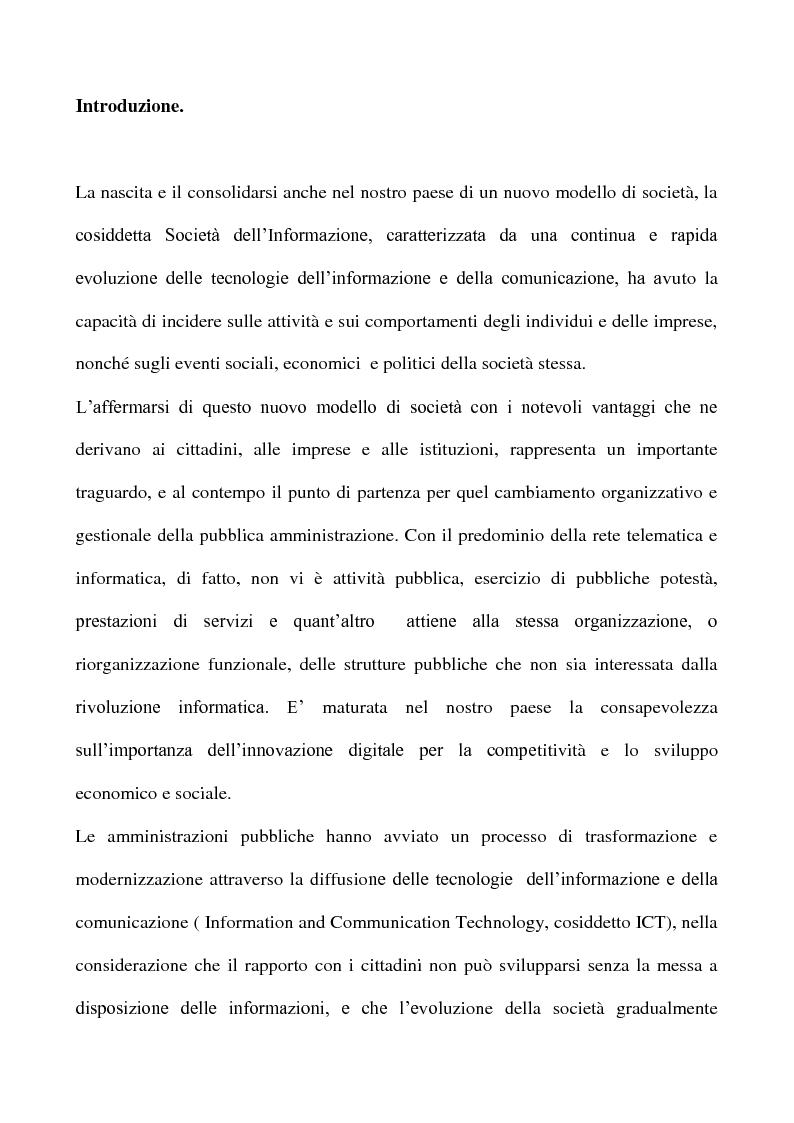 Anteprima della tesi: La posta elettronica certificata, Pagina 1