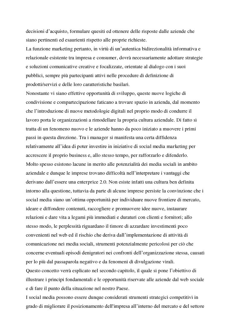 Anteprima della tesi: La gestione della corporate reputation nei social media, Pagina 3