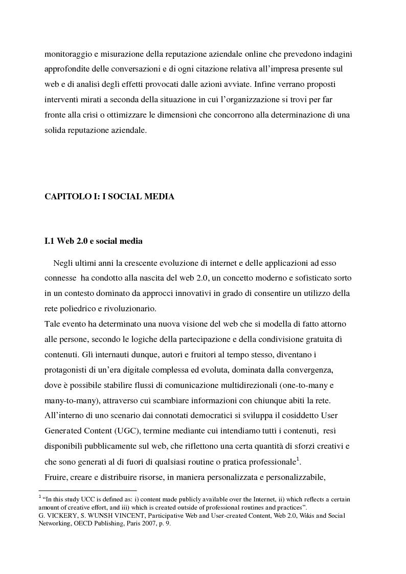 Anteprima della tesi: La gestione della corporate reputation nei social media, Pagina 5