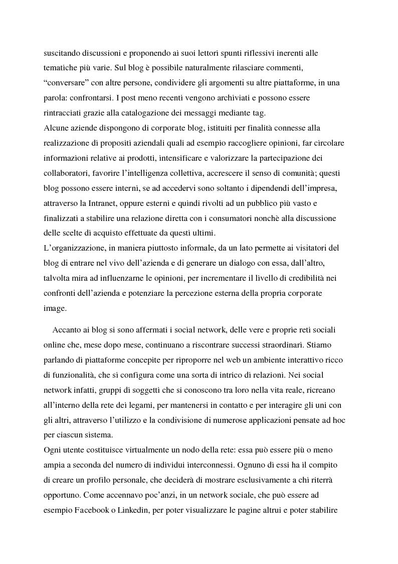 Anteprima della tesi: La gestione della corporate reputation nei social media, Pagina 8