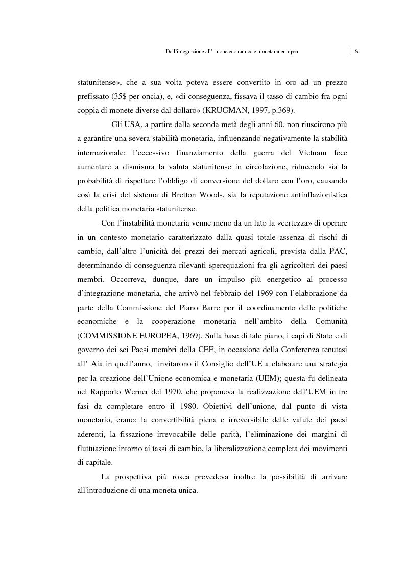 Anteprima della tesi: Unificazione monetaria europea e teoria delle aree valutarie ottimali, Pagina 6