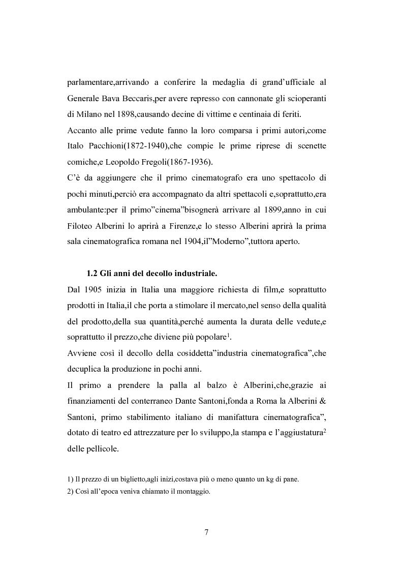 Anteprima della tesi: Norme a sostegno dell'attività cinematografica in Italia, Pagina 3