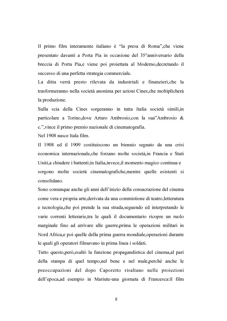 Anteprima della tesi: Norme a sostegno dell'attività cinematografica in Italia, Pagina 4