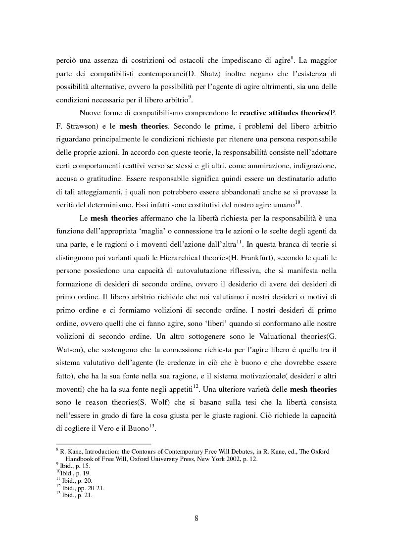 Anteprima della tesi: Necessità causale, libero arbitrio e responsabilità morale: incompatibilismo e compatibilismo in Peter van Inwagen, Pagina 3