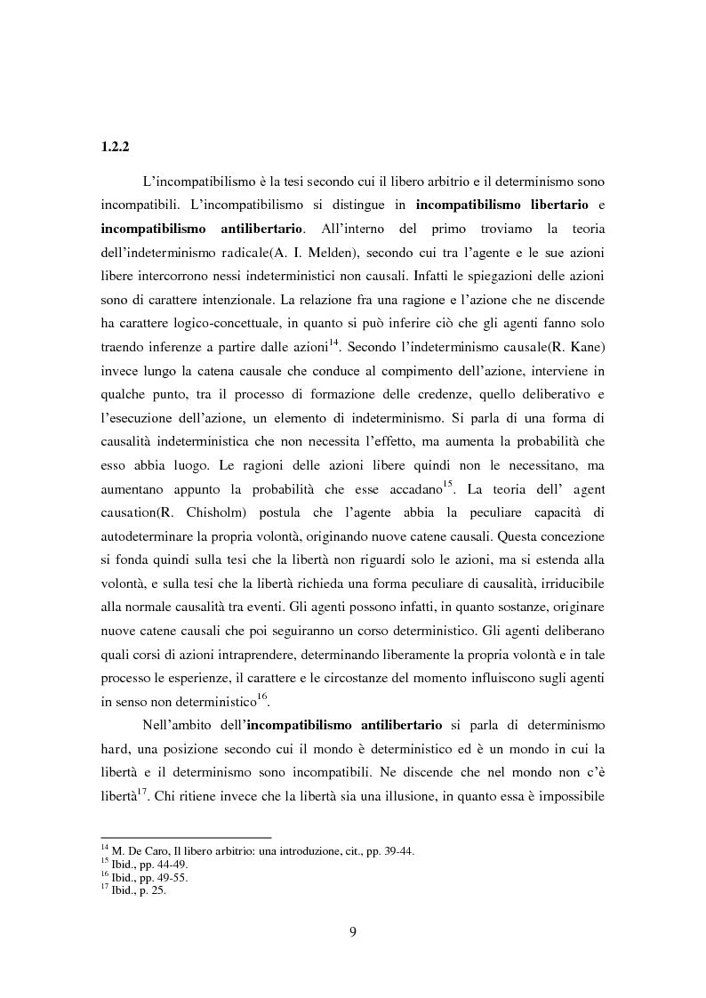 Anteprima della tesi: Necessità causale, libero arbitrio e responsabilità morale: incompatibilismo e compatibilismo in Peter van Inwagen, Pagina 4