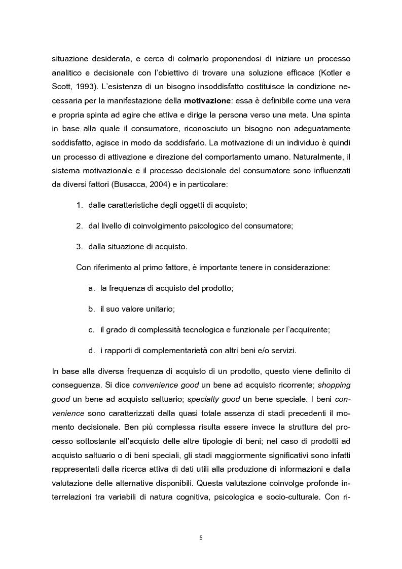 Anteprima della tesi: Means-end chain: il valore della means-end chain in una prospettiva inter-category, Pagina 4