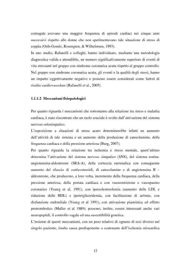 Anteprima della tesi: Scrittura espressiva e fattori psicosociali di rischio in pazienti cardiopatici, Pagina 10