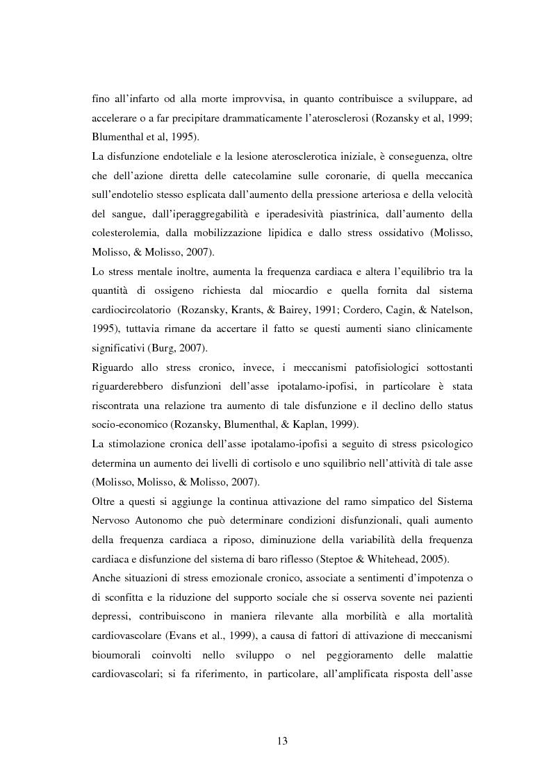 Anteprima della tesi: Scrittura espressiva e fattori psicosociali di rischio in pazienti cardiopatici, Pagina 11