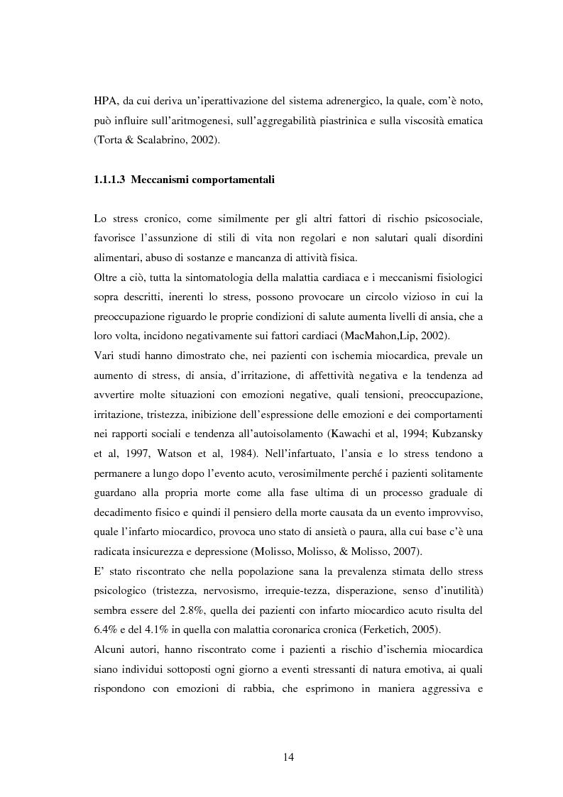 Anteprima della tesi: Scrittura espressiva e fattori psicosociali di rischio in pazienti cardiopatici, Pagina 12