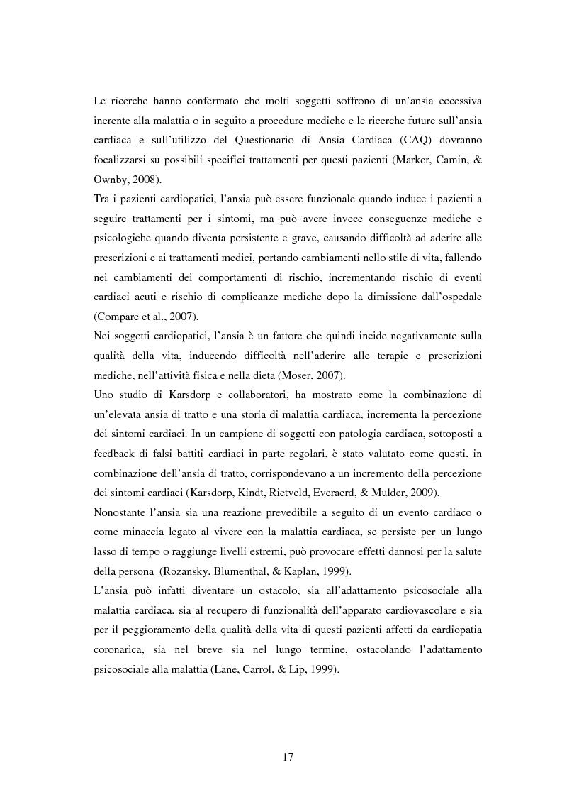 Anteprima della tesi: Scrittura espressiva e fattori psicosociali di rischio in pazienti cardiopatici, Pagina 15