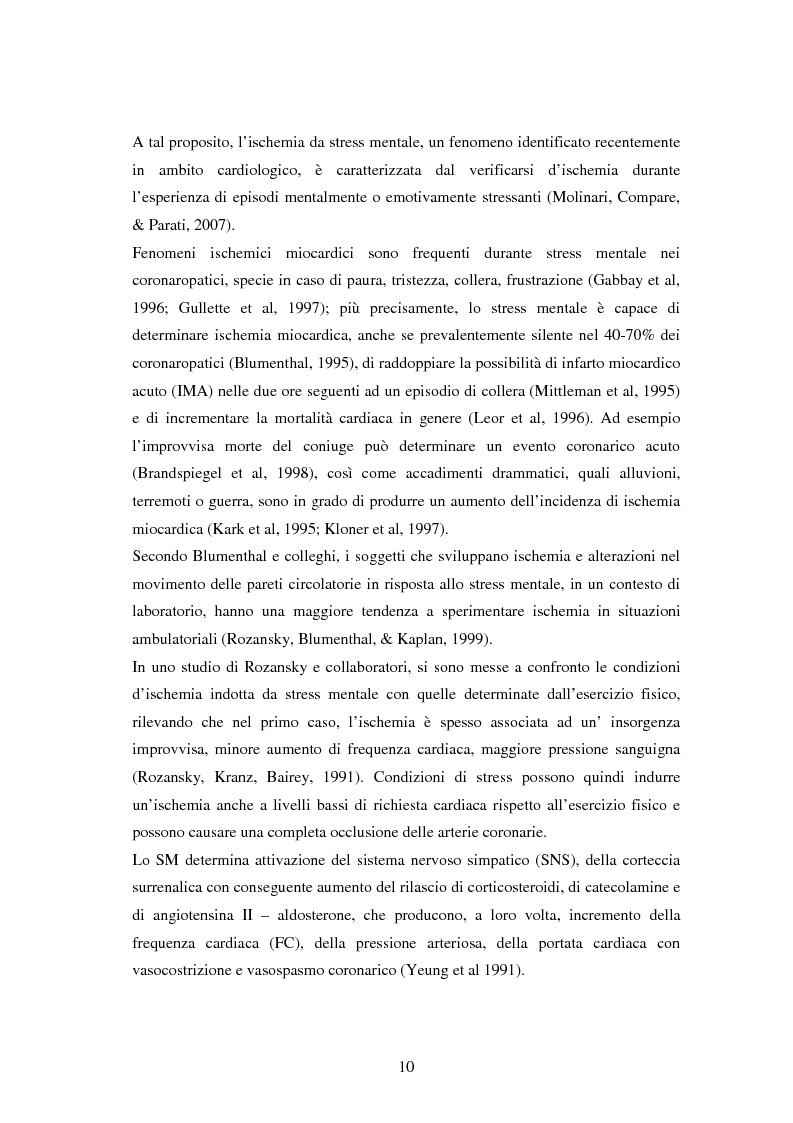 Anteprima della tesi: Scrittura espressiva e fattori psicosociali di rischio in pazienti cardiopatici, Pagina 8