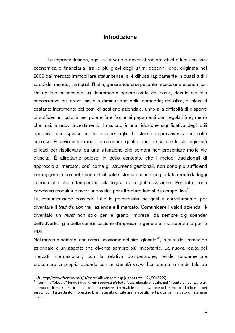 Anteprima della tesi: La visual identity aziendale: il caso Blumel, Pagina 1