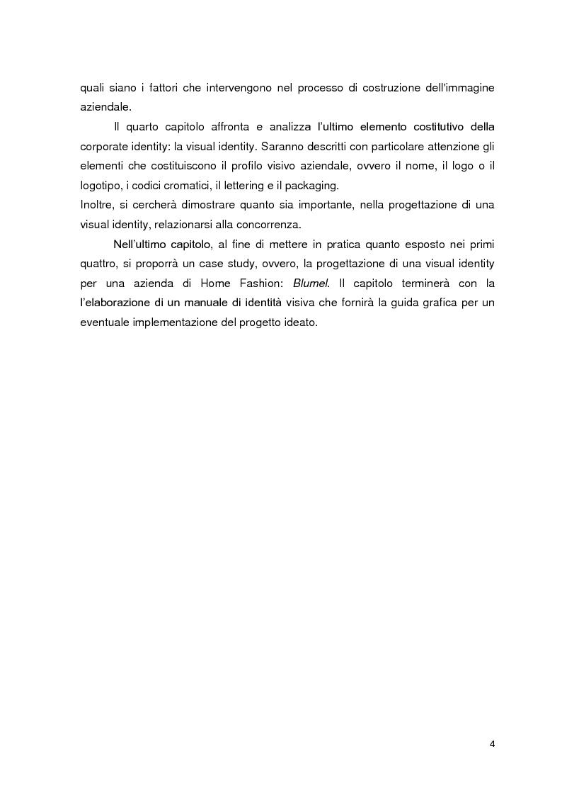 Anteprima della tesi: La visual identity aziendale: il caso Blumel, Pagina 4