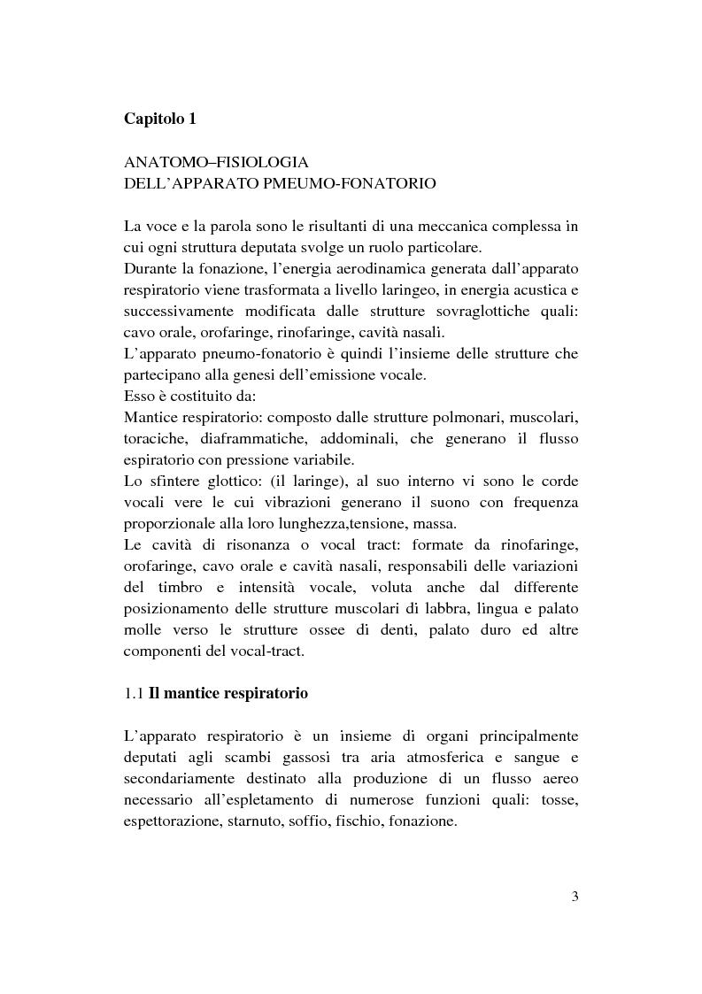 Anteprima della tesi: Le Disfonie Psicogene, Pagina 1