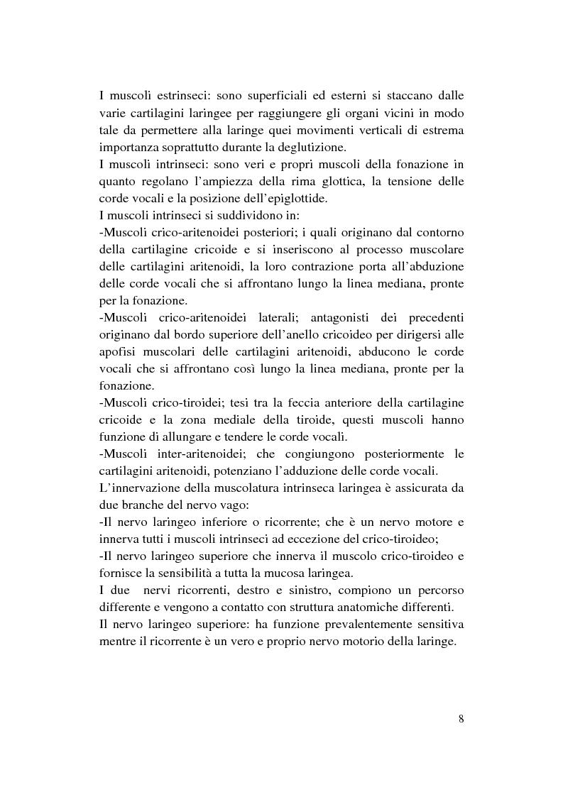 Anteprima della tesi: Le Disfonie Psicogene, Pagina 6