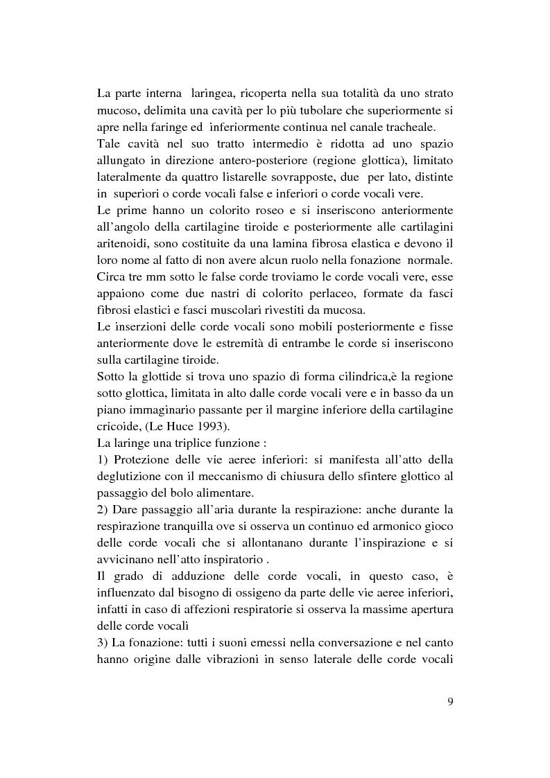 Anteprima della tesi: Le Disfonie Psicogene, Pagina 7