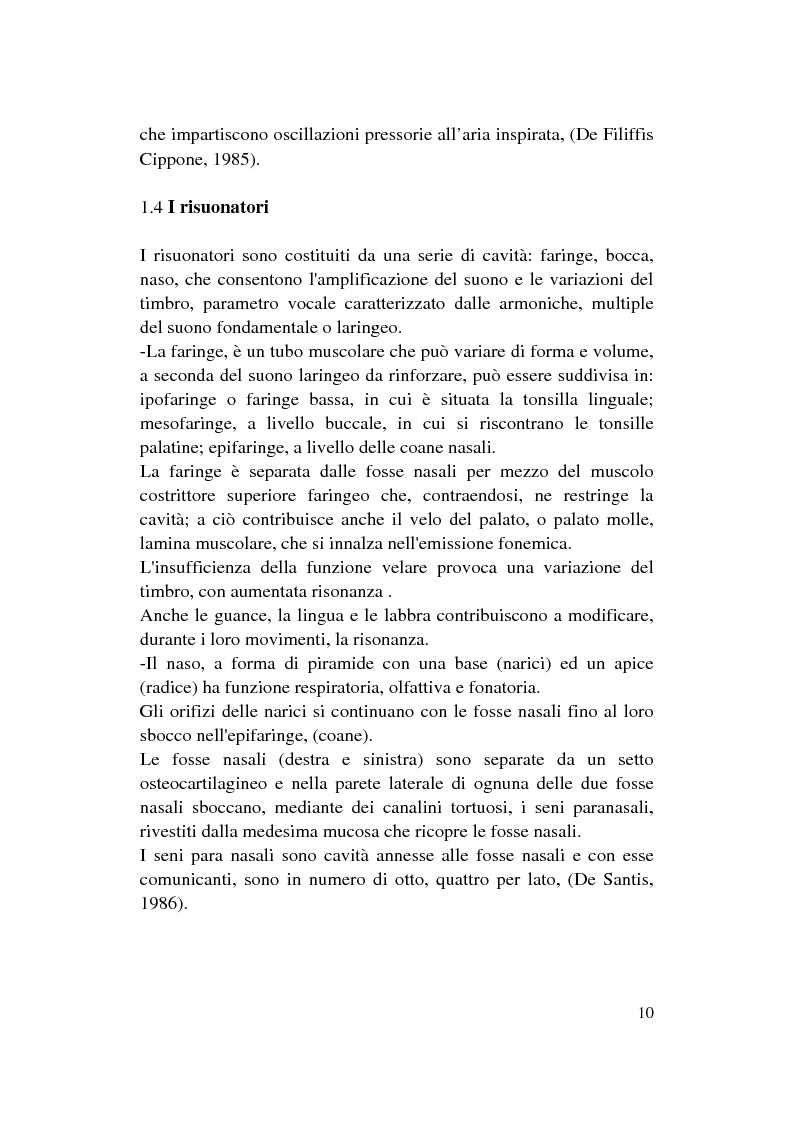 Anteprima della tesi: Le Disfonie Psicogene, Pagina 8