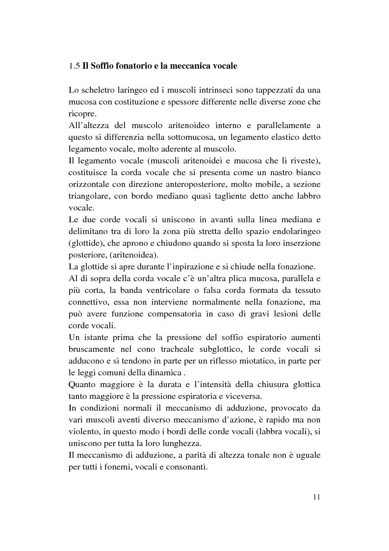 Anteprima della tesi: Le Disfonie Psicogene, Pagina 9