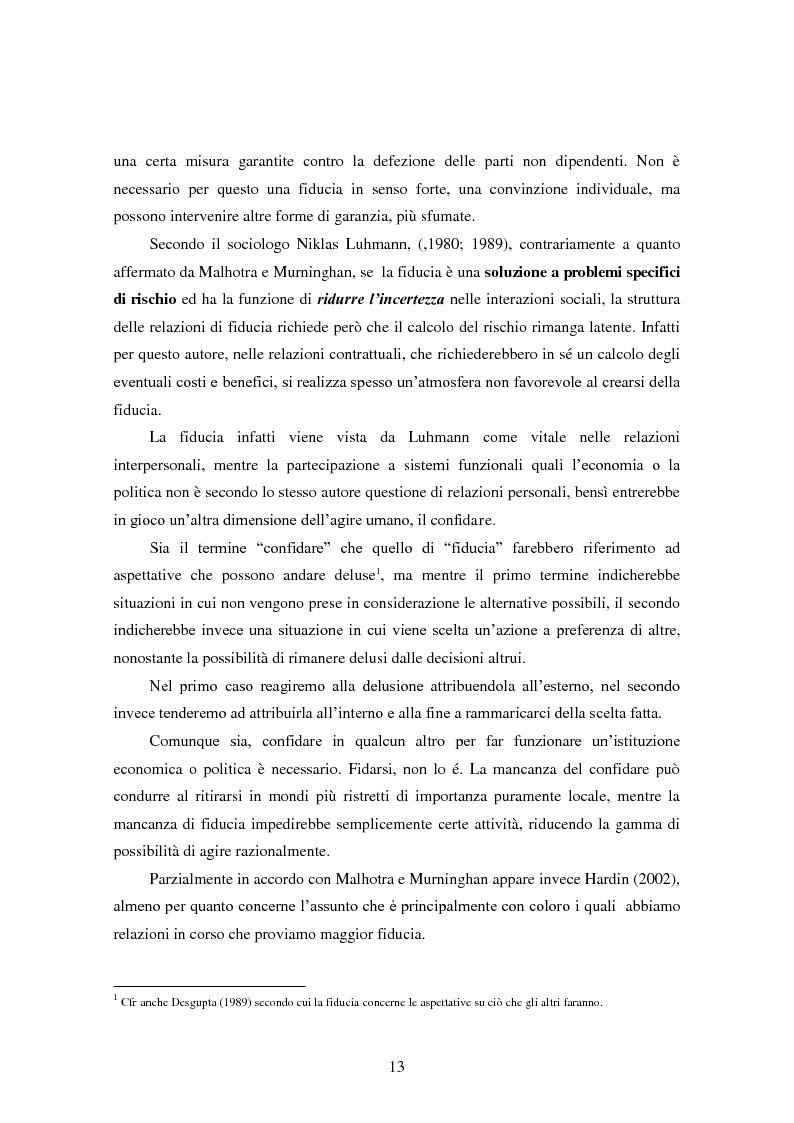 Anteprima della tesi: Modalità di sviluppo delle relazioni di fiducia nelle interazioni on line. Il caso b-to-c in contesti naturali., Pagina 11