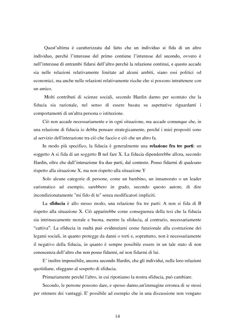 Anteprima della tesi: Modalità di sviluppo delle relazioni di fiducia nelle interazioni on line. Il caso b-to-c in contesti naturali., Pagina 12