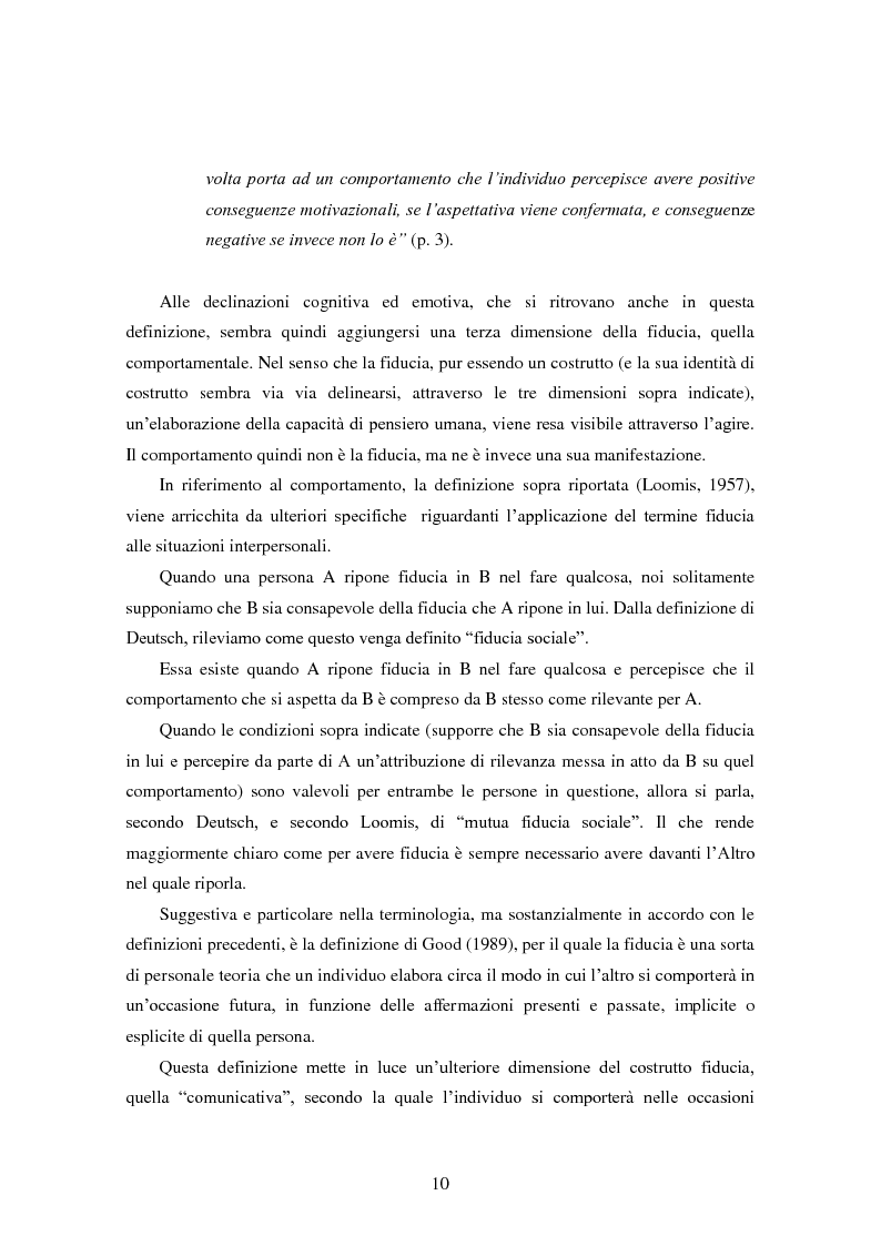 Anteprima della tesi: Modalità di sviluppo delle relazioni di fiducia nelle interazioni on line. Il caso b-to-c in contesti naturali., Pagina 8
