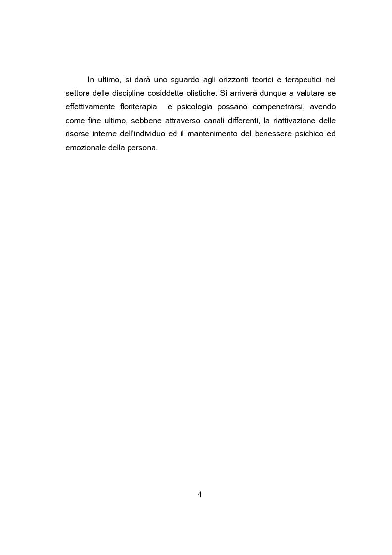 Anteprima della tesi: Dinamiche interiori nell'utilizzo della Floriterapia di Bach. Approfondimento sulla crisi di consapevolezza, Pagina 2