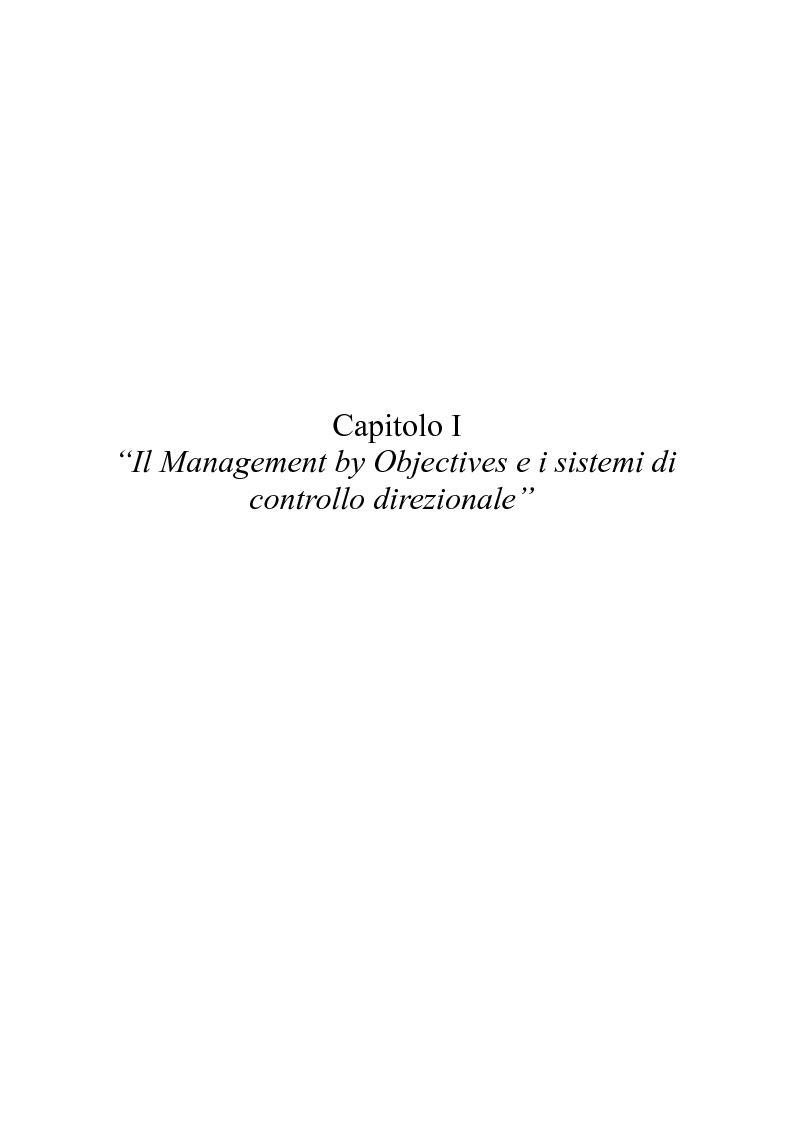 Anteprima della tesi: Il sistema premi/incentivi nell'economia d'azienda: dal Management by objectives al Balanced Scorecard, Pagina 4