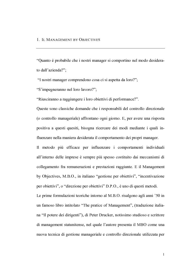 Anteprima della tesi: Il sistema premi/incentivi nell'economia d'azienda: dal Management by objectives al Balanced Scorecard, Pagina 5