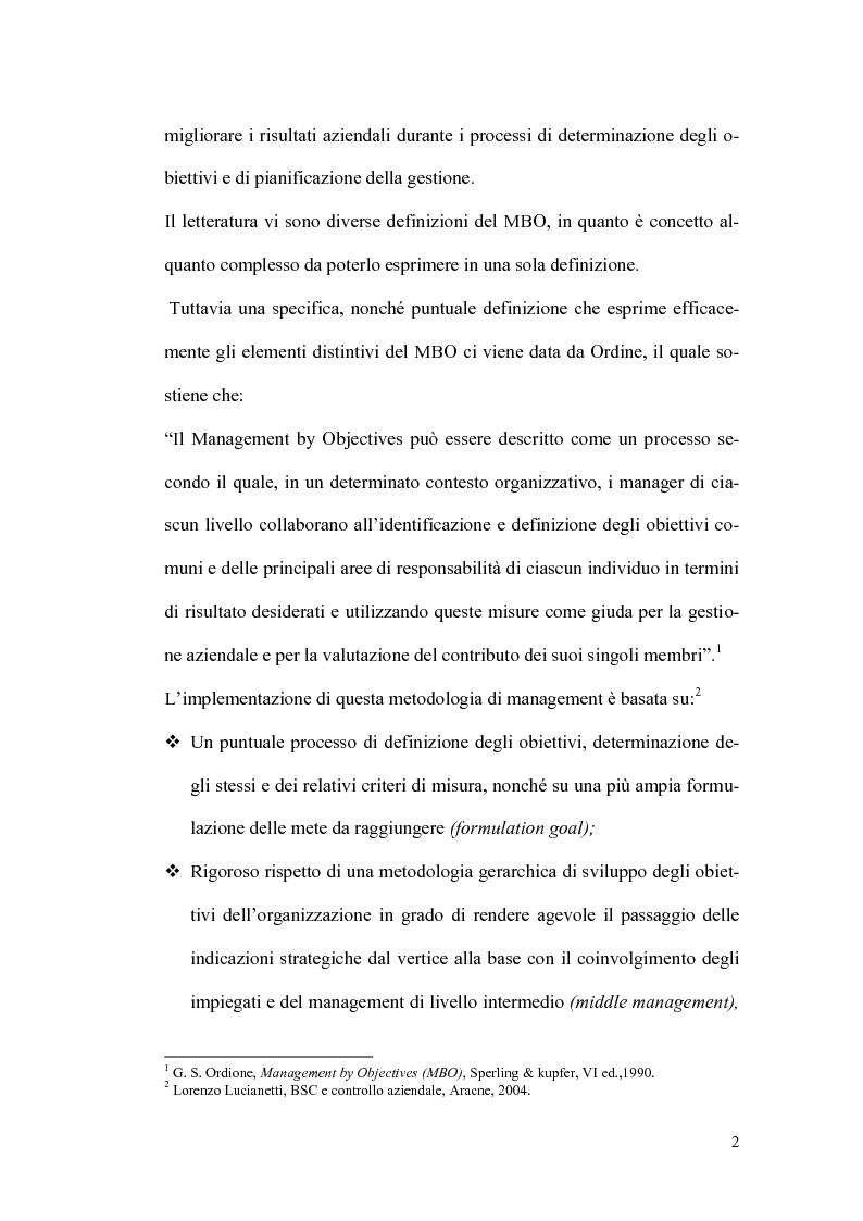 Anteprima della tesi: Il sistema premi/incentivi nell'economia d'azienda: dal Management by objectives al Balanced Scorecard, Pagina 6