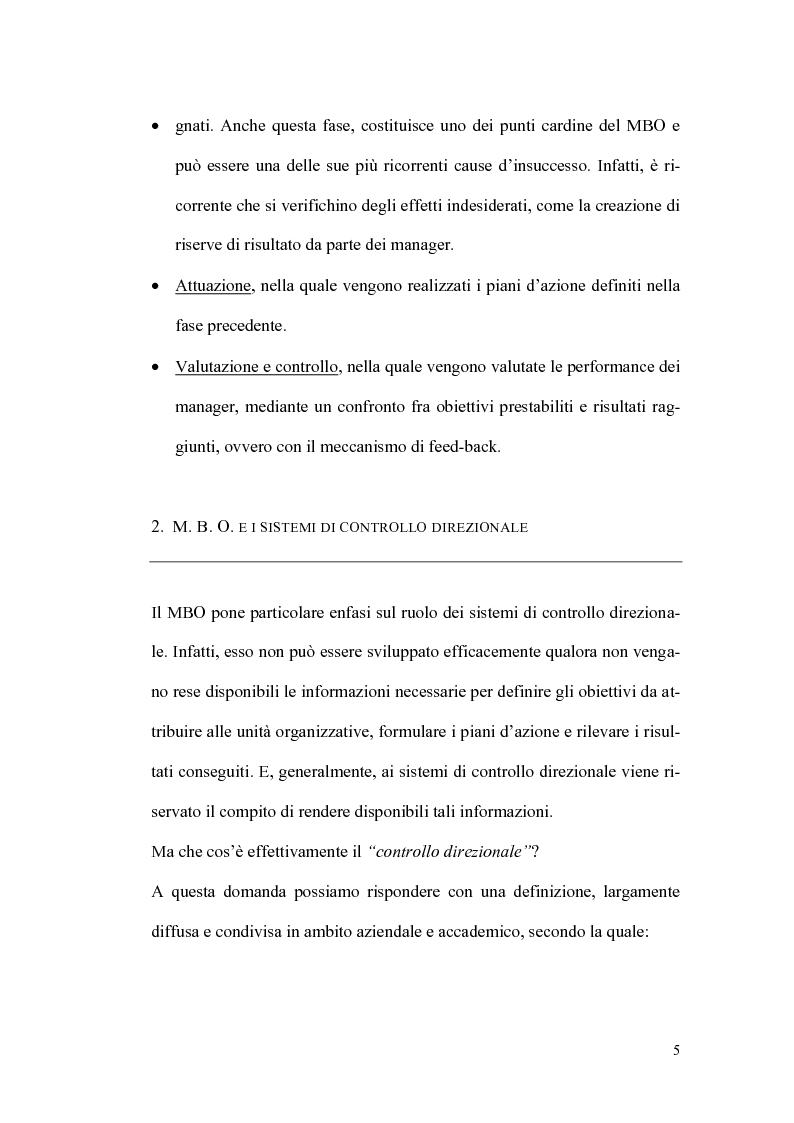 Anteprima della tesi: Il sistema premi/incentivi nell'economia d'azienda: dal Management by objectives al Balanced Scorecard, Pagina 9