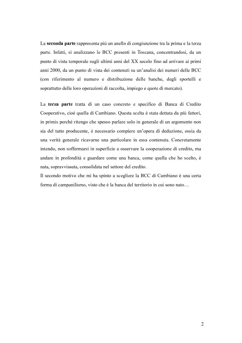 Anteprima della tesi: Dalle casse rurali ed artigiane alle banche di credito cooperativo (con particolare riferimento alla Toscana), Pagina 2