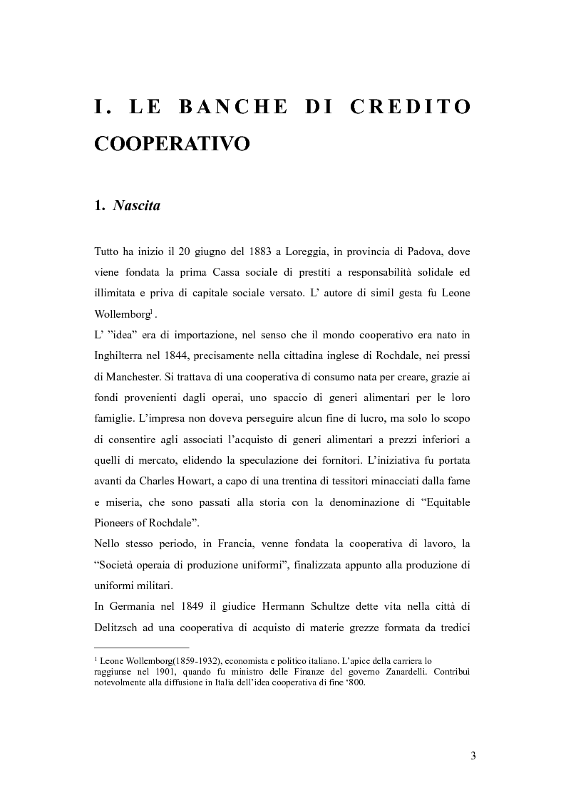 Anteprima della tesi: Dalle casse rurali ed artigiane alle banche di credito cooperativo (con particolare riferimento alla Toscana), Pagina 3