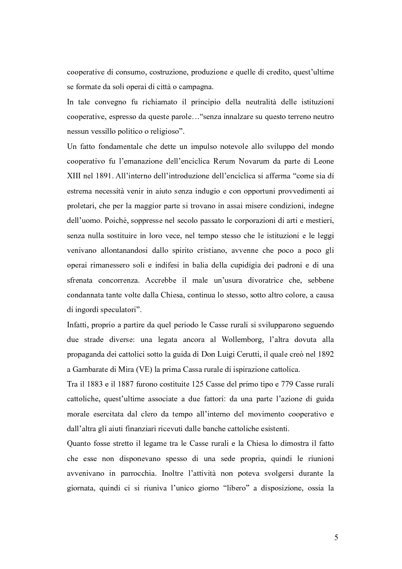 Anteprima della tesi: Dalle casse rurali ed artigiane alle banche di credito cooperativo (con particolare riferimento alla Toscana), Pagina 5