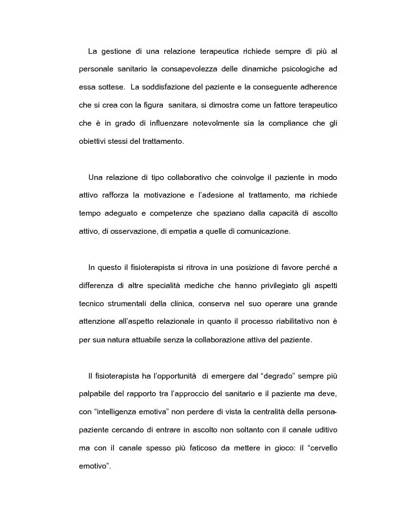 Anteprima della tesi: Intelligenza emotiva e adherence per un un outcome clinico favorevole, Pagina 1