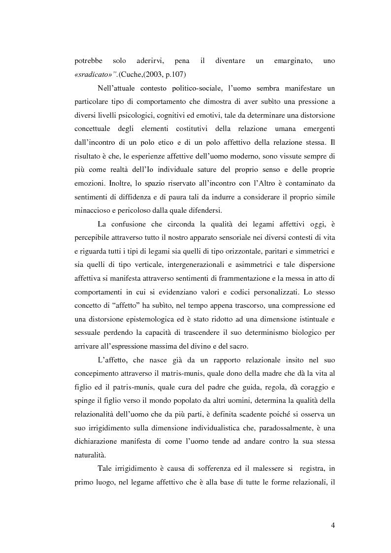 Anteprima della tesi: Il legame affettivo tra con-fusione e identità. Psicopatologia della relazione affettiva., Pagina 2