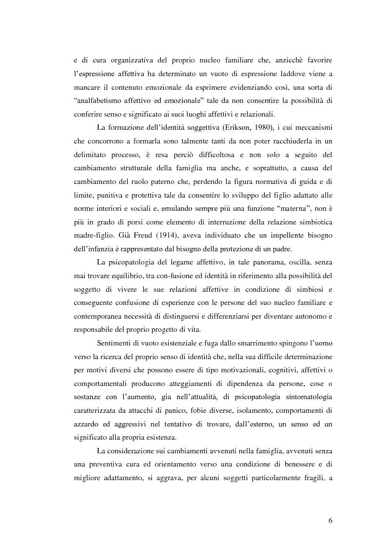 Anteprima della tesi: Il legame affettivo tra con-fusione e identità. Psicopatologia della relazione affettiva., Pagina 4