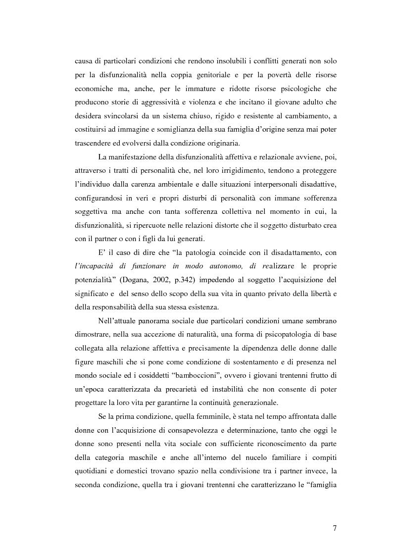 Anteprima della tesi: Il legame affettivo tra con-fusione e identità. Psicopatologia della relazione affettiva., Pagina 5