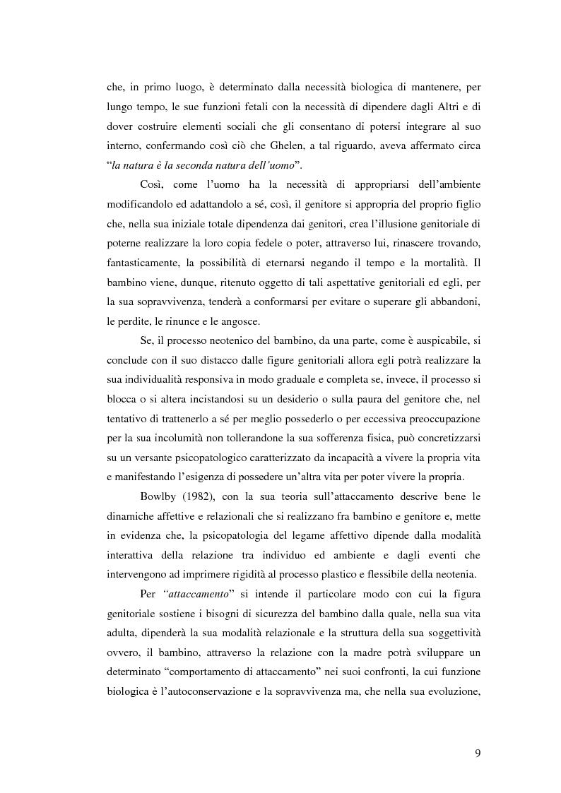Anteprima della tesi: Il legame affettivo tra con-fusione e identità. Psicopatologia della relazione affettiva., Pagina 7