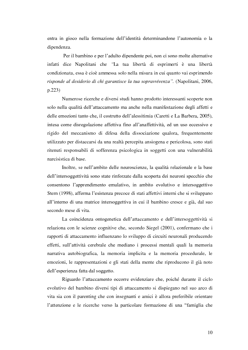 Anteprima della tesi: Il legame affettivo tra con-fusione e identità. Psicopatologia della relazione affettiva., Pagina 8